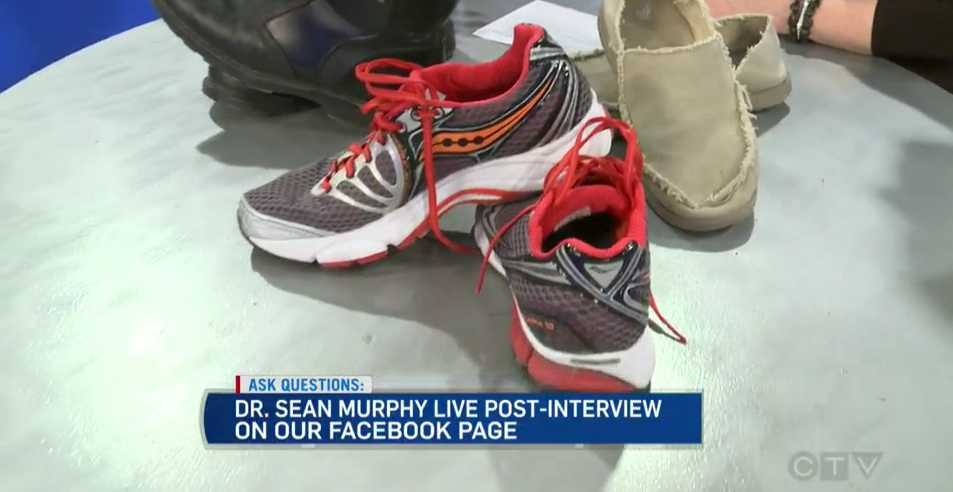 CTV News at Noon TV Segment with Leanne Cusack & Dr. Sean Murphy: Exercise & Shoes (1)…