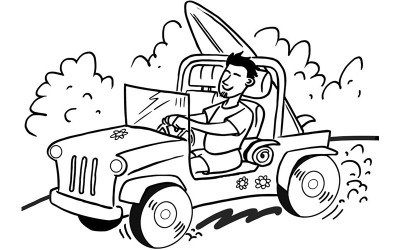 Back and Leg Pain in Your Car?  Next Time you Plan a Road Trip Pack a Beach Towel…