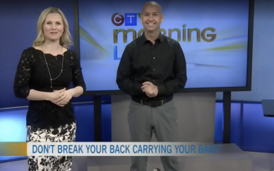 CTV Ottawa Morning Live Video – with Dr. Sean Murphy & Annette Goerner Carry a Car Seat the Right way